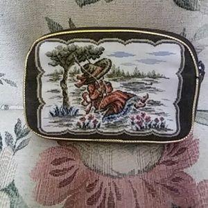 Vintage Brocade coin purse/make-up bag